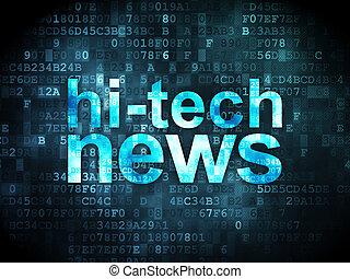 News concept: Hi-tech News on digital background