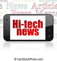 News concept: Hi-tech News on Smartphone display