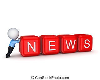 News concept. Isolated on white background.3d rendered.
