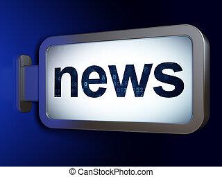 News concept: News on billboard background