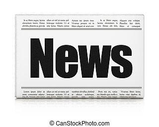 News concept: newspaper headline News