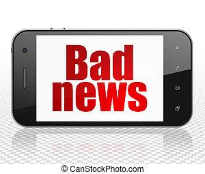 News concept: Smartphone with Bad News on display