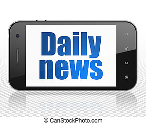 News concept: Smartphone with Daily News on display