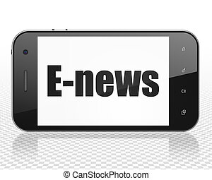 News concept: Smartphone with E-news on display