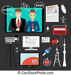 News concept vector illustration