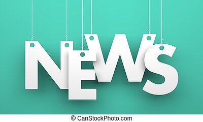 News - Conceptual image. Illustration for Business