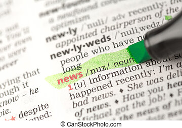 News definition highlighted in green