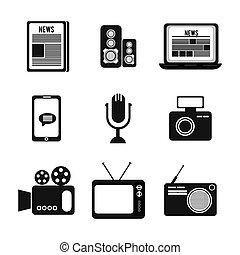 News design over white background, vector illustration.
