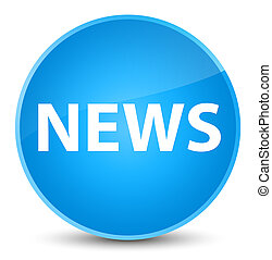 News elegant cyan blue round button