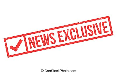News Exclusive rubber stamp