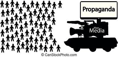 news fake propaganda, mass media deception, government lies