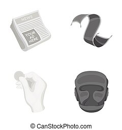 news, finance and other monochrome icon in cartoon style.home, sport icons in set collection.