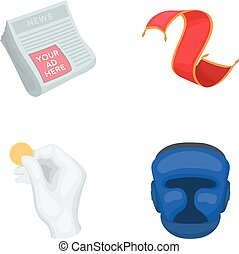 news, finance and other web icon in cartoon style.home, sport icons in set collection.