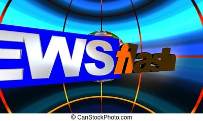 News Flash Animation - A motion graphic video animation clip...