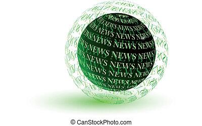 News green globe