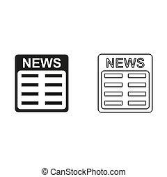 news - green vector icon