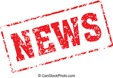 news - Grungy ink stamp, vector format very easy to edit