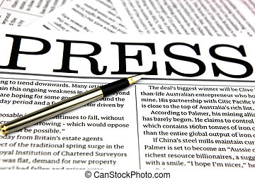 News - Heading of a newspaper business section