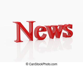 news - High resolution image symbol. 3d illustration over...