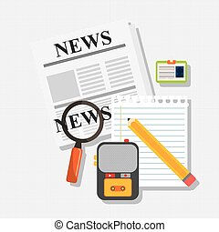 News icon design - News concept with icon design, vector ...