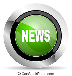 news icon, green button