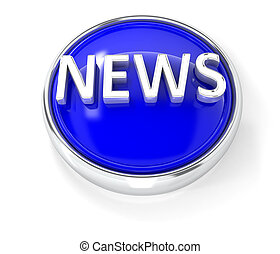 News icon on glossy blue round button
