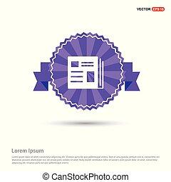news icon - Purple Ribbon banner