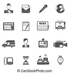 News icons black