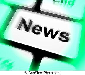 News Keyboard Shows Newsletter Broadcast Online