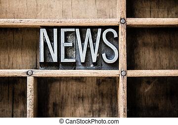 News Letterpress Type in Drawer
