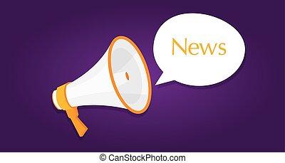 news megaphone announcement loud buble
