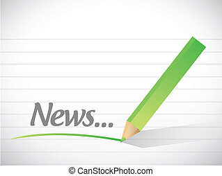 news message illustration design