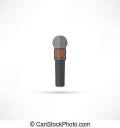 news microphone icon