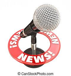 News Microphone Information Communication Sharing Urgent Update
