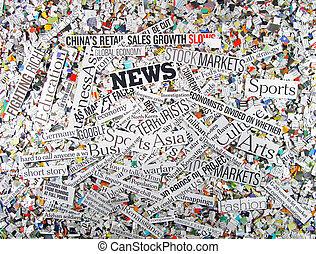 news  - newspaper concept background