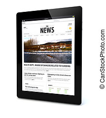 news on a tablet