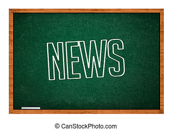 News on green chalkboard
