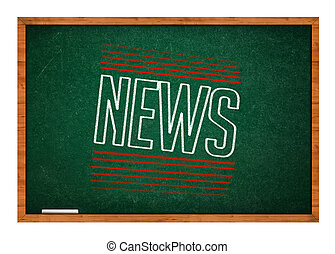 News on green chalkboard