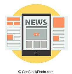 News online Business concept vector