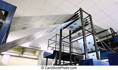 news paper production line in printing establishment