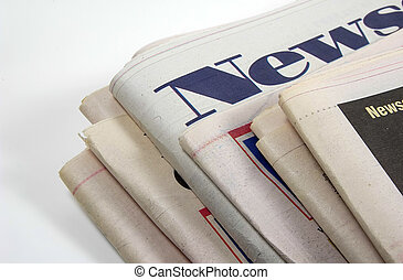 Photo of Newspapers With The Word News as Emphasis.