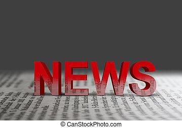 news - red news word on newspaper