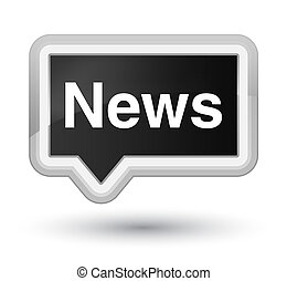News prime black banner button