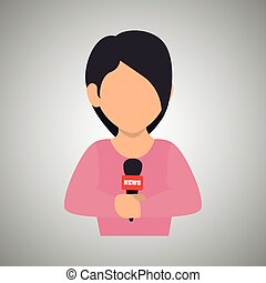 News Reporter Design Vector Illustration Eps10 Graphic