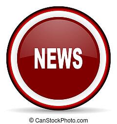 news round glossy icon, modern design web element
