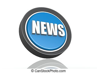 News round icon in blue