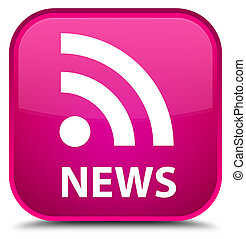 News (RSS icon) special pink square button