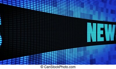News Side Text Scrolling LED Wall Pannel Display Sign Board...