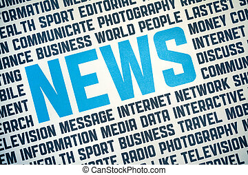 News Sign Poster - Printed poster with News headline and...