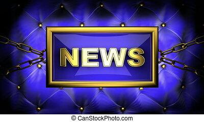 news on velvet background